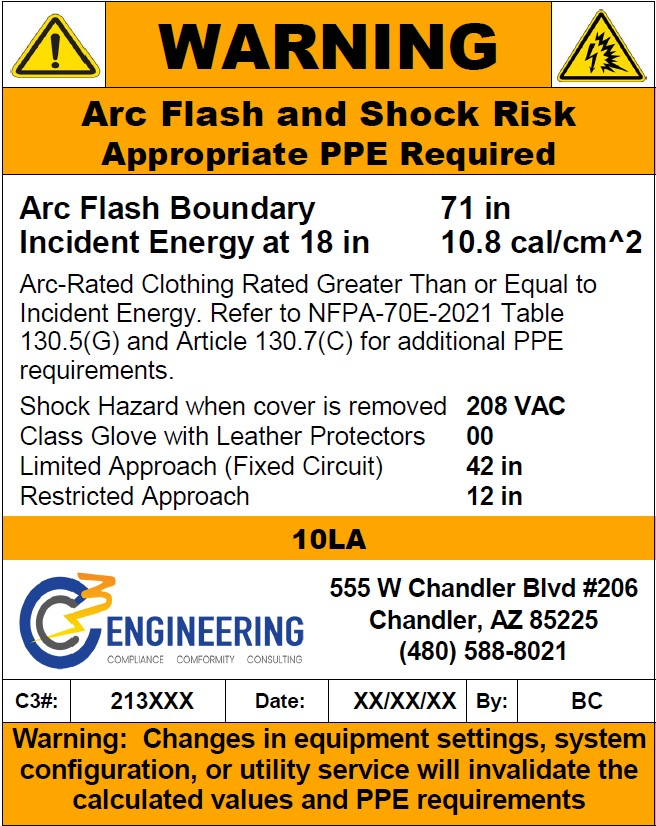 arc flash and shock risks